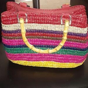 Straw purse Multi colors